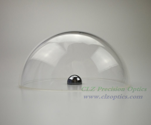 Dome window, 84.88mm diameter, 5mm thick, 42.5mm height, N-BK7 or equivalent type Optical dome