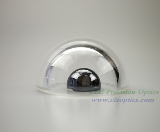Dome window, 30mm diameter, 2mm thick, 16mm height, N-BK7 or equivalent type Optical dome